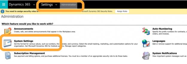 Dynamics 365 CRM settings - AhaApps