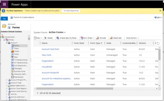 1 12 625x386 Missing Form Editor through command bar in Microsoft Dynamics 365