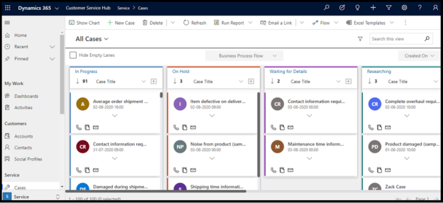 1 Switch from old Record View to Kanban Board View 625x286 Switch from Old Record View to Kanban Board View to Maximize Business Productivity within Dynamics 365 CRM / PowerApps