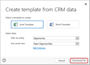 Microsoft Dynamics CRM Excel Templates CRM Software Blog - Crm excel template