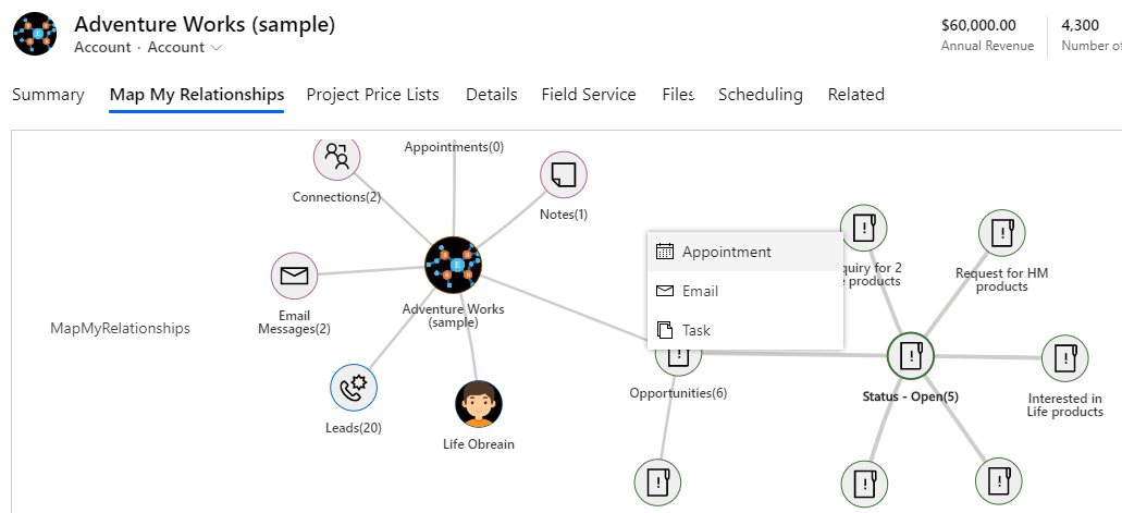 2Map My Relationships – Get a Mind Map View of your Dynamics 365 CRM Records 1 Map My Relationships – Get a Mind Map View of your Dynamics 365 CRM Records
