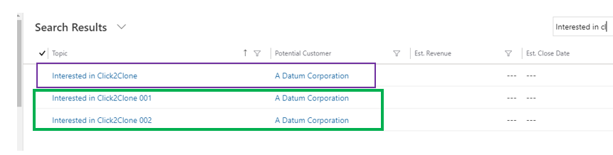 multiple copies of Dynamics 365 CRM Record