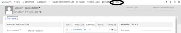 3 13 625x116 Missing Form Editor through command bar in Microsoft Dynamics 365
