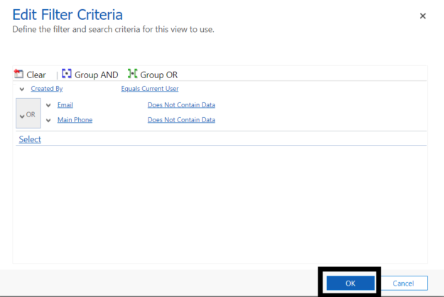 3 8 625x418 Tips on using Advanced Find in Microsoft Dynamics 365