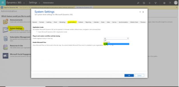 Plugin error log settings update in Microsoft Dynamics 365 - AhaApps