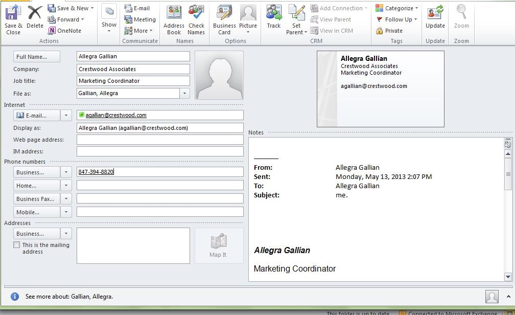 CRM Tip: Auto-populate calendar and contacts with drop-and-drop