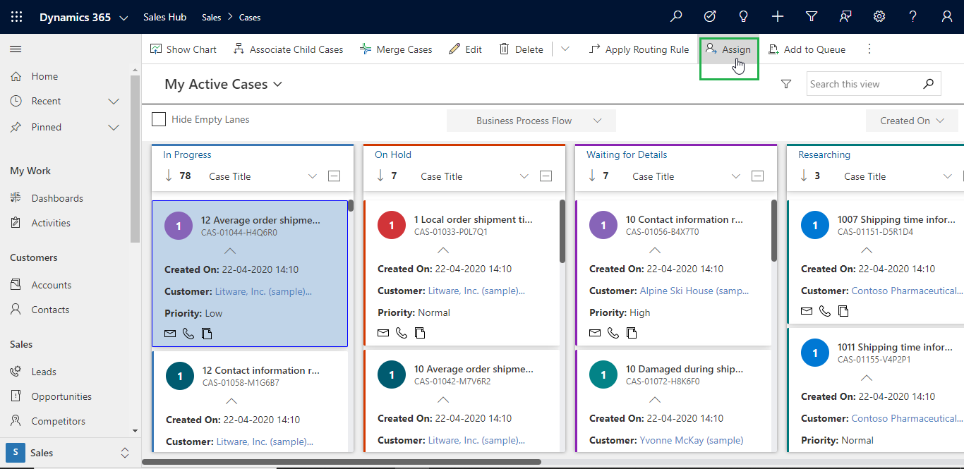 Get better visualization of Cases using Kanban Board within Dynamics 365 CRM