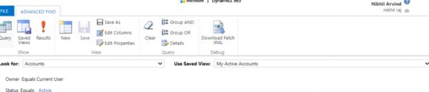 Microsoft Dynamics 365 Advanced find - AhaApps