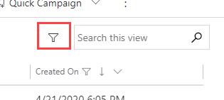 Advanced filtering icon