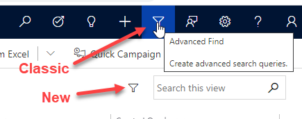 Advanced find icon still available