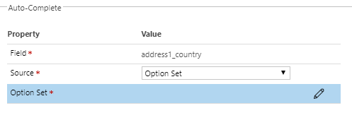 Auto-complete - bind to Option Set