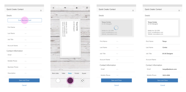 Business Card Scan 625x310 Highlights of Upcoming Dynamics 365 October 2019 Updates