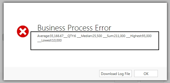 Business Process Error