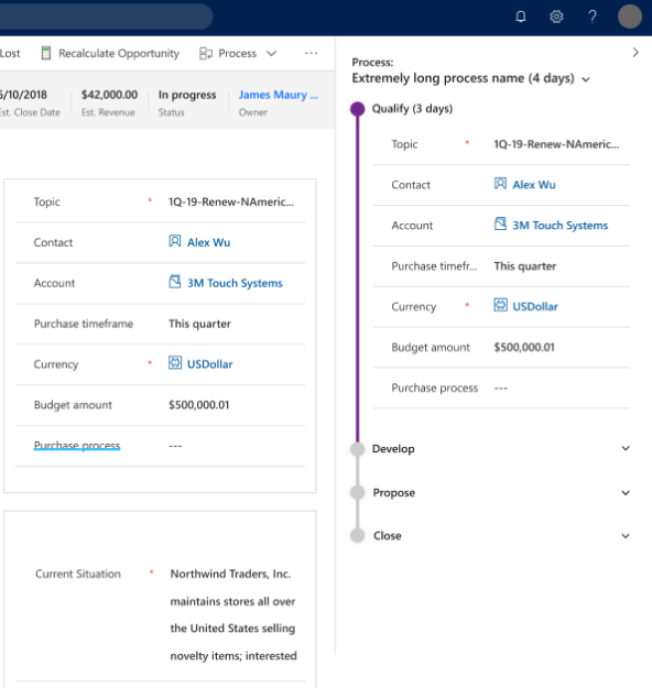 Business Process Flow vertical layout 592x625 Highlights of Upcoming Dynamics 365 October 2019 Updates