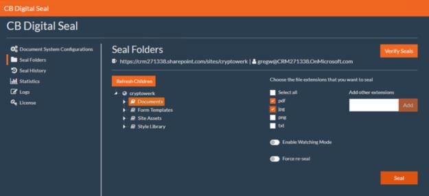Digitally seal forlders - file types pdf and jpg