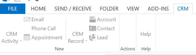 CRM for Outlook 2