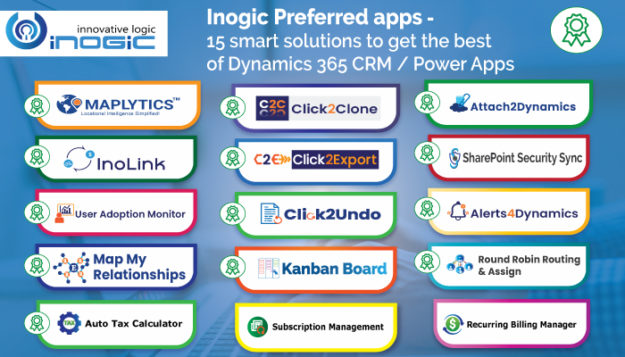 Inogic Preferred apps - 15 smart solutions to get the best of Dynamics 365 CRM / Power Apps