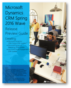 Dynamics CRM 2016 Spring Wave