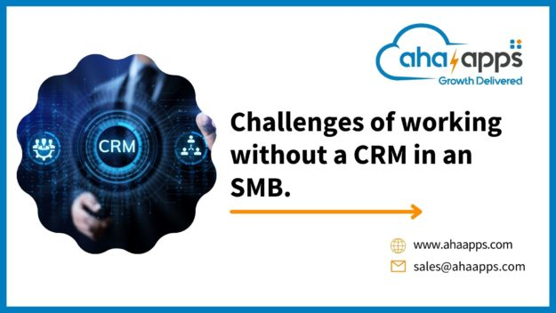Challenges of working without a CRM in an SMB -- AhaApps