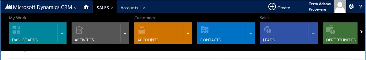 Clean User Interface CRM 2013