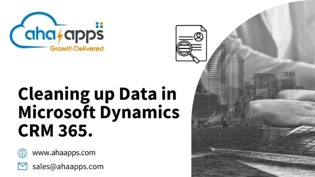 Cleaning up Data in Microsoft Dynamics CRM 365 - AhaApps