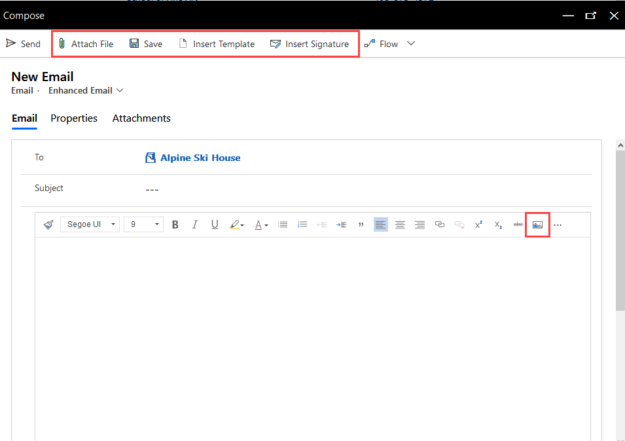 Compose email features