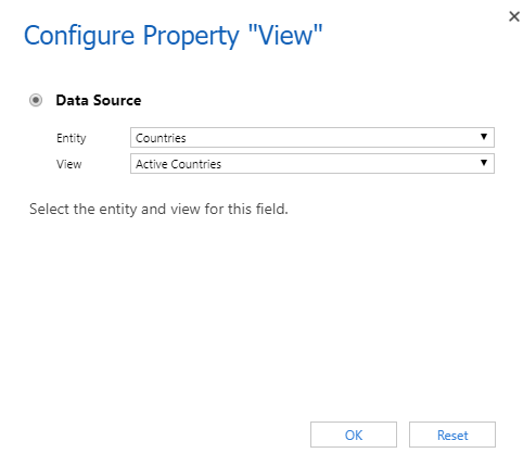 Configure Property setup for views