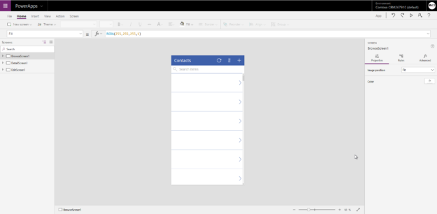 Create PowerApp Editor screen 625x306 Getting Started with PowerApps with Dynamics 365