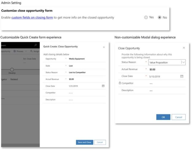 Custom Opportunity Close 625x493 Highlights of Upcoming Dynamics 365 October 2019 Updates
