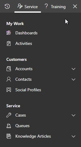 Customer Service Hub Side Menu Understanding Dynamics 365 Hubs