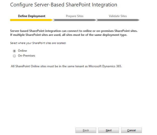 Configure SharePoint Integration - Define Deployment