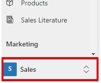 Dynamics 365 Sales App - toggle button - Sales
