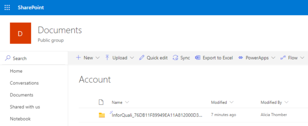 Dynamics 365 Documents in SharePoint