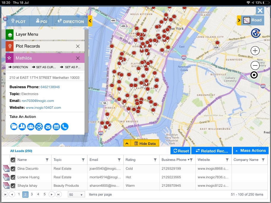 Dynamics 365 CRM & PowerApps helps create productive strategies with geographical insights