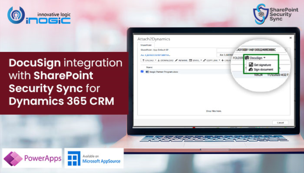 DocuSign integration with SharePoint Security Sync for Dynamics 365 CRM