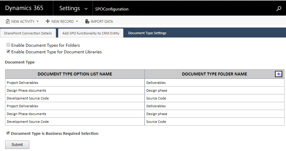 Upload CRM Documents to SharePoint - Store by Document Types