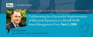 Dynamics 365 CE over Salesforce HSO