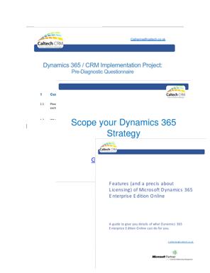Implementing Dynamics 365 Enterprise Edition Kit