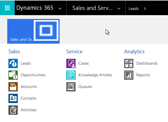 Dynamics 365 Navigation Menu with new Custom App