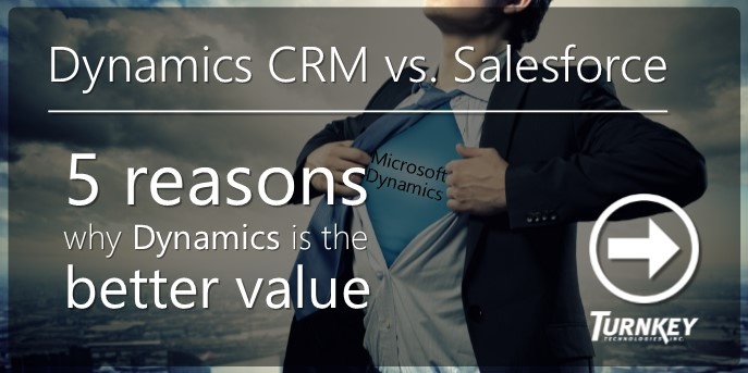 Dynamics CRM vs. Salesforce - 5 Reasons - Turnkey Technologies (Twitter Image 1)