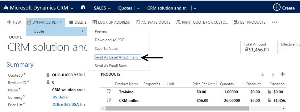 Dynamics PDF Reports Mesmerizing Crm Quote