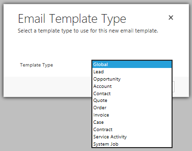 Email Template Type