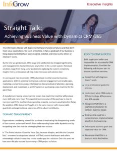 Executive Insights Achieving Business Value with CRM 1 232x300 The Top 3 Keys to CRM Success – Straight Talk