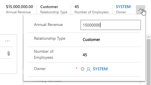 Header fields flyout Dynamics 365 October 2019 Updates Headers and Density