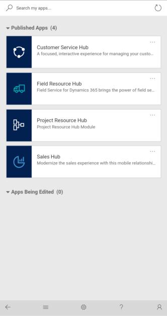 Hub Access Dynamics 365 Mobile App 332x625 Understanding Dynamics 365 Hubs