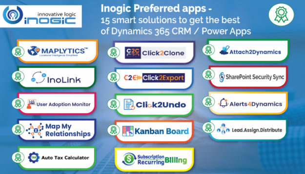 Inogic Preferred apps - 15 smart solutions to get the best of Dynamics 365 CRM Power Apps