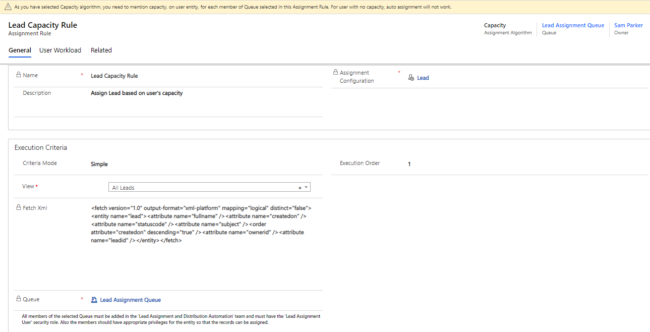 automating assignment of Dynamics 365 CRM