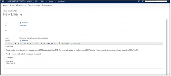 Microsoft Dynamics CRM 2 Quick Email Follow Up Strategies 6
