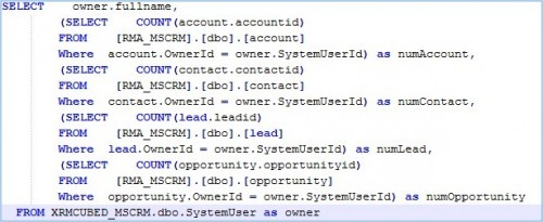 Microsoft Dynamics CRM Record Count Reports 1
