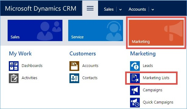 Microsoft Dynamics CRM - Using Marketing Lists to Enhance Advanced Find 1
